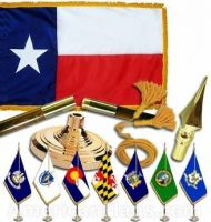 Indoor Mounted Texas State Flag Sets