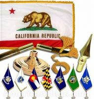 Indoor Mounted California State Flag Sets