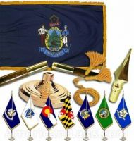Indoor Mounted Maine State Flag Sets