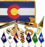 Indoor Mounted Colorado State Flag Sets