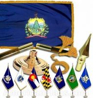 Indoor Mounted Vermont State Flag Sets