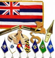 Indoor Mounted Hawaii State Flag Sets
