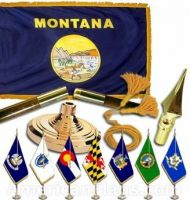 Indoor Mounted Montana State Flag Sets