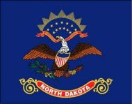 Economy Printed North Dakota State Flag