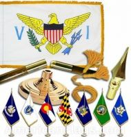 Indoor Mounted Virgin Islands Flag Sets