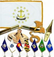 Indoor Mounted Rhode Island State Flag Sets
