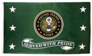 Served with Pride Army Flag