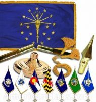 Indoor Mounted Indiana State Flag Sets