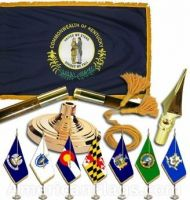 Indoor Mounted Kentucky State Flag Sets