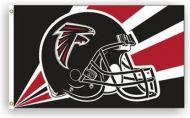 3' X 5' Atlanta Falcons Helmet Flag