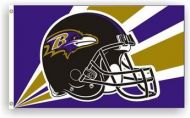 3' X 5' Baltimore Ravens Helmet Flag