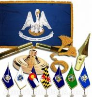 Indoor Mounted Louisiana State Flag Sets