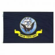 2' X 3' Economy Printed Navy Flag