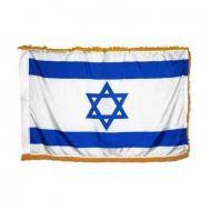 3' X 5' Indoor Israel Flag - Fringed or Unfringed