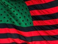 African American USA Flag