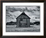Country Barn With Historic Flag Framed Print