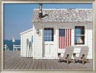 Dockside Flag Framed Art Print