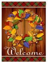 Fall Wreath Garden Banner