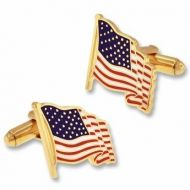Waving American Flag Cufflink Set