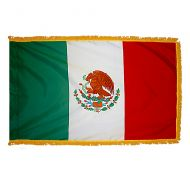 3' X 5' Indoor/Parade Fringed Nylon Mexico Flag