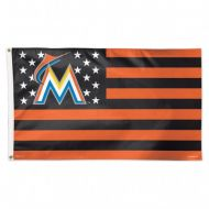 Miami Marlins Stars and Stripes Flag