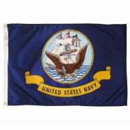 12 X 18 Inch Nylon Navy Flag