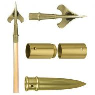 7FT Guidon Pole Set with Gold Fittings