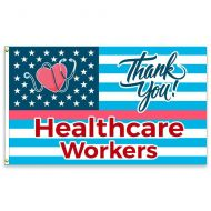 Thank You Healthcare Workers Premium Flag