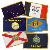 Complete Set of 50 4' X 6' Fringed Nylon Indoor/Parade State Flags
