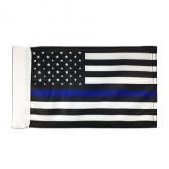 Thin Blue Line US Motorcycle Flag