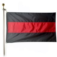 Heavyweight Nylon Thin Red Line Flag