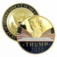 US President Donald Trump 24k Gold Plated Eagle Commemorative 2020 Campaign Coin