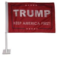 Trump Keep America First Car Flag (Red)
