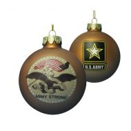 U.S. Army Strong Gold Glass Ball Ornament