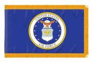 3' X 5' Indoor Fringed Nylon Air Force Flag