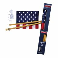 Boxed U.S. Flag Kit With Wood Pole