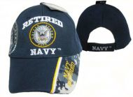 Retired Navy Cap with Shadow Seal and Blue Digi Camo