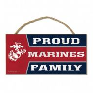 U.S. Marines Wood Sign with Rope