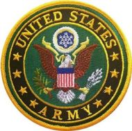US Army Logo Iron-On Patch - 3""