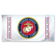 White USMC Beach Towel