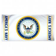 White US Navy Beach Towel