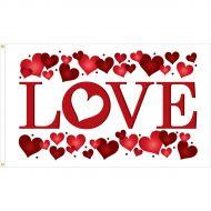 """3'x5' Valentine's Day """"Love"""" Flag"""