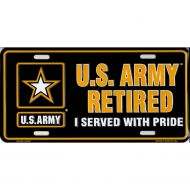 U.S. Army Retired License Plate