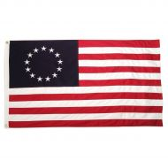 Traditional Cotton Betsy Ross Flag - 4' X 6'