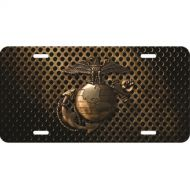 Bronzed U.S. Marines Logo License Plate