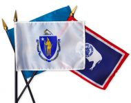 Complete Set of 50 4 X 6 Inch Mounted Endura-Gloss State Flags