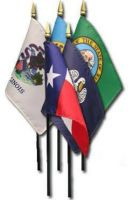 Complete Set of 50 8 X 12 Inch Mounted Endura-Gloss State Flags