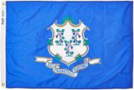 12 X 18 Inch Nylon Connecticut State Flag