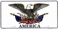 Patriotic Eagle License Plate