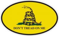 Gadsden Oval Bumper Sticker